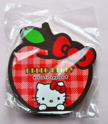 MINI031 Hello Kitty Apple Die Cut Memo Pad