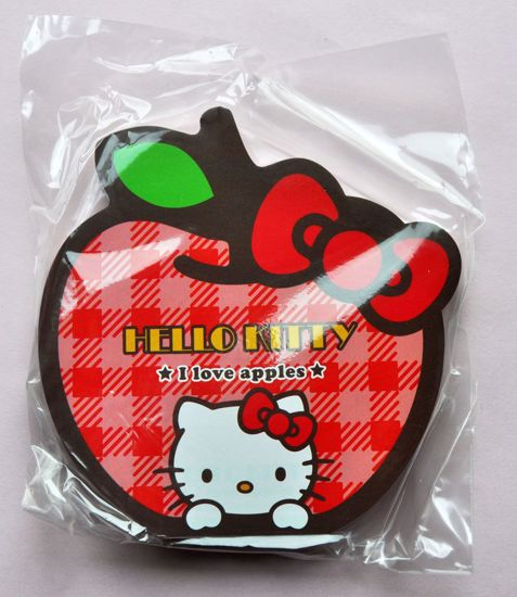 MINI031 Hello Kitty Apple Die Cut Memo Pad