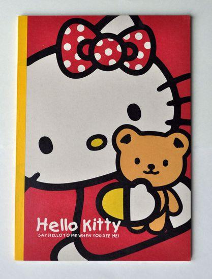 NPAD013 Hello Kitty Teddy Bear Lined Notebook