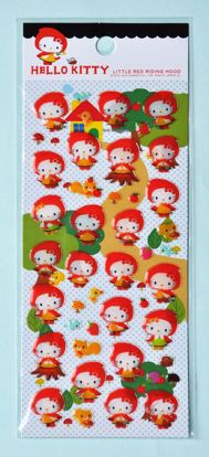 STIC104 Hello Kitty Red Riding Hood Sticker Sheet