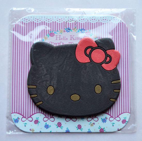MISC096 Hello Kitty Cookie Drinks Coaster - Dark Brown