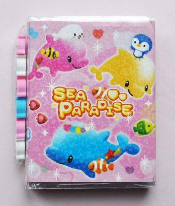 MINI067 Sea Paradise Mini Memo Pad and Eraser Set