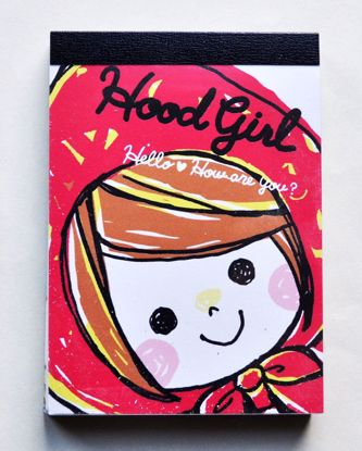 MINI088 Hood Girl Mini Memo Pad