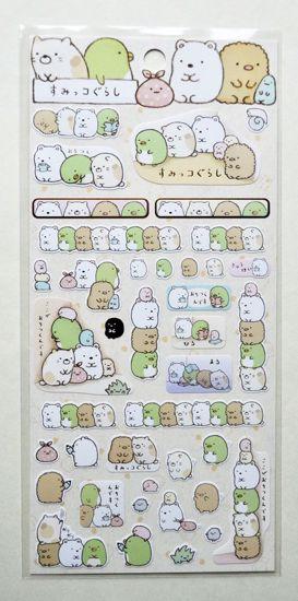 STIC200 Sumikogurashi Sticker Sheet - A