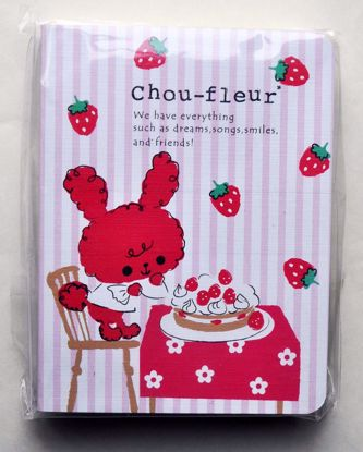 NPAD109 Chou-fleur Pocket Notebook with 9 Lovely Page Designs - A