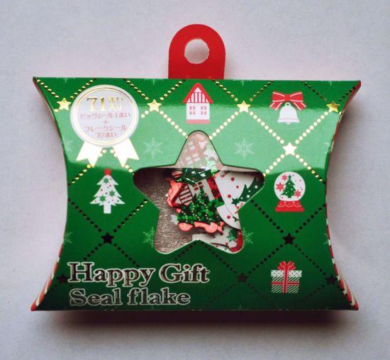 SACK149 Christmas Sticker Flakes Box - B