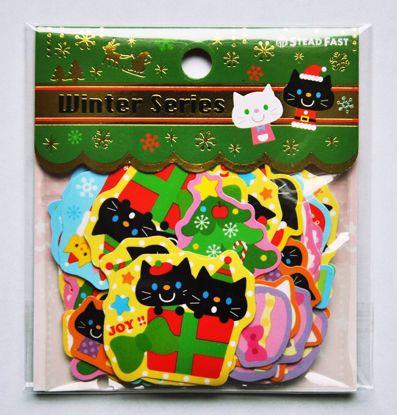 SACK158 Christmas Theme Sticker Flakes Sack - G