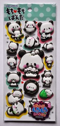 STIC481 Mochi Mochi Panda Super Puffy Raised Sticker Sheet