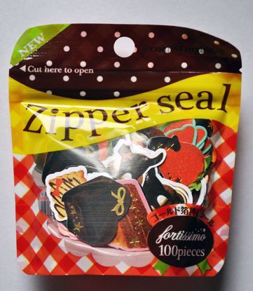 SACK222 Cookies and Biscuits Zip-Lock Sticker Flakes Sack