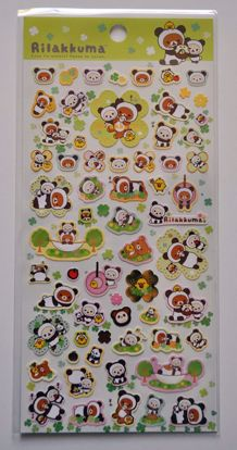 STIC506 Rilakkuma Panda Sticker Sheet - A