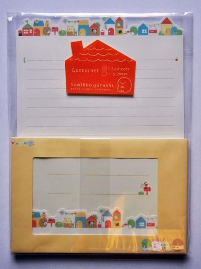 LETT186 Sumikkogurashi Our House Letter Set - B