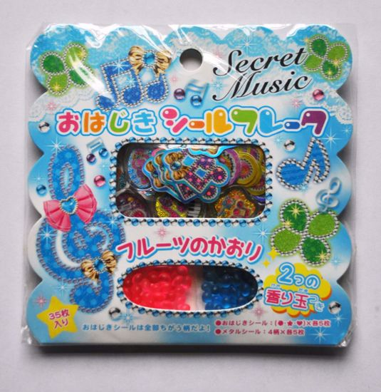 SACK237 Secret Music Sticker Flakes Sack with Scented Beads