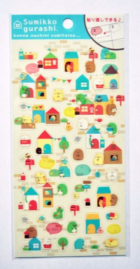 STIC496 Sumikkogurashi Our House Sticker Sheet