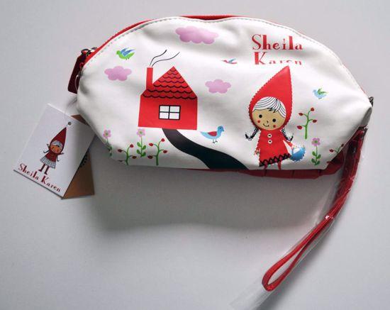 MISC812 Sheila Karen / Red Riding Hood Make Up Bag / Purse / Pouch