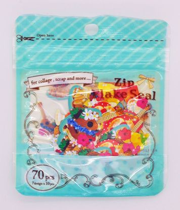 SACK264 Zip Flake Seal Sticker Sack - Hawaii Snacks