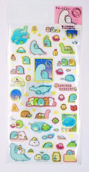 STIC568 Sumikkogurashi Lizard & Mother Sticker Sheet - A