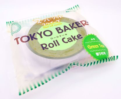 SQUISH1220 Tokyo Bakery Super Soft and Slow Rising Scented Roll Cake Squishy - Green Tea
