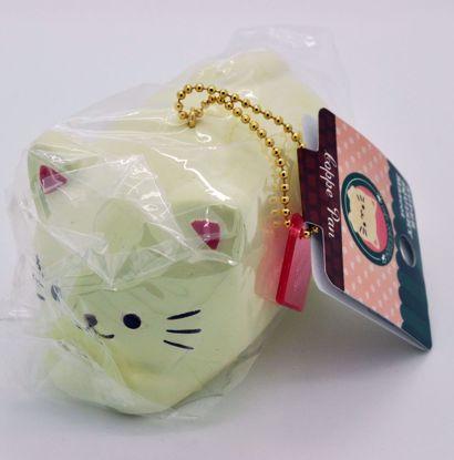 SQUISH1408 Cafe Sakura Super Squishy Soft and Slow Rising Kitty / Cat Koppe Pan - Sakura