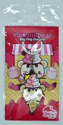 MISC882 Creamii Candy Rubber Yummiibear Keychain / Keyring - A