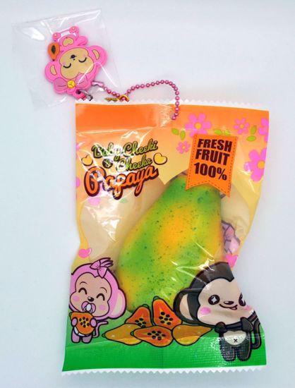 SQUISH1837 Puni Maru Super Soft and Slow Rising Baby Cheeki and Cheeka Papaya Squishy - A