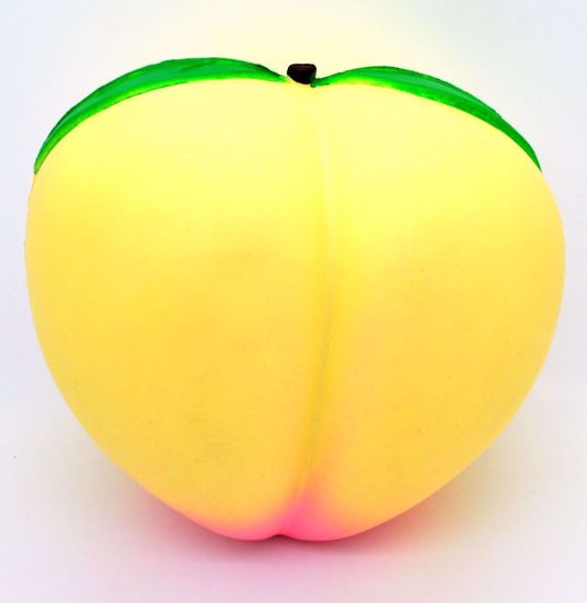 SQUISH1883 Super Jumbo Soft and Slow Rising Strawberry Scented Super Big Peach Squeeze - Yellow Peach