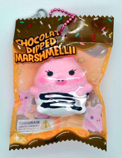 SQUISH1908 Puni Maru x Creamii Candy Super Soft and Slow Rising Mini Chocolate Dipped Marshmellii Squishy - White Choc - Girl