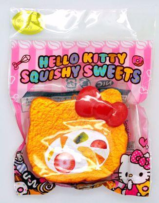 SQUISH1931 Sanrio Super Soft and Slow Rising Hello Kitty Squishy Sweets Cake Roll Squishy - Vanilla Roll