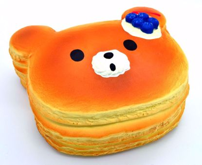 SQUISH1945 Puni Maru Super Soft and Slow Rising Scented Super Jumbo Pancake Stack Scented Squishy - Blueberry