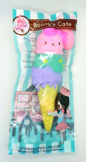 SQUISH1967 Bunnys Cafe Super Soft and Slow Rising Scented Bunny Ice Cream Cone - B