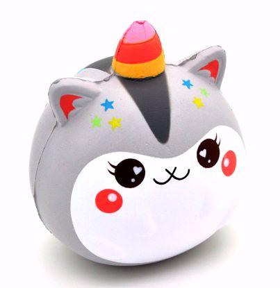 SQUISH2039 Popular Super Soft and Slow Rising Baby Uni Poli Squishy - Grey