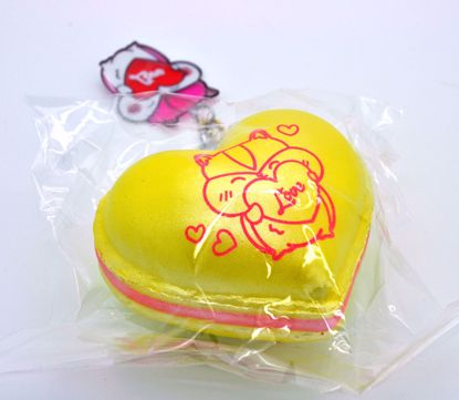 Buy Popular Super Soft and Slow Rising Scented Poli Shimmer Love Heart Macaron Squishy - Yellow