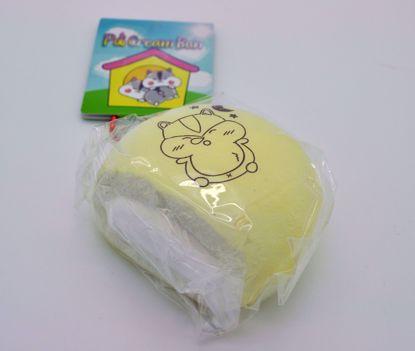 Buy Popular Boxes Super Soft and Slow Rising Sleepy Poli Cream Bun Squishy - Cream