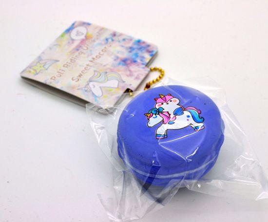 Buy Popular Super Soft and Slow Rising Poli Riding Unicorn Sweet Macaron Squishy - Purple