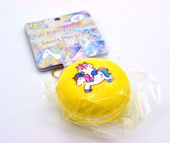 Buy Popular Super Soft and Slow Rising Poli Riding Unicorn Sweet Macaron Squishy - Yellow