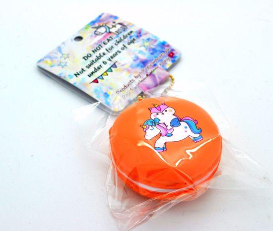 Buy Popular Super Soft and Slow Rising Poli Riding Unicorn Sweet Macaron Squishy - Orange