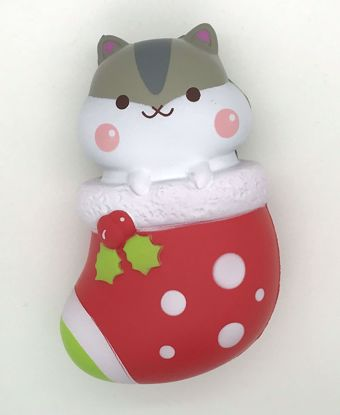 Buy Popular Super Soft and Slow Rising Scented Poli Christmas Sock Squishy