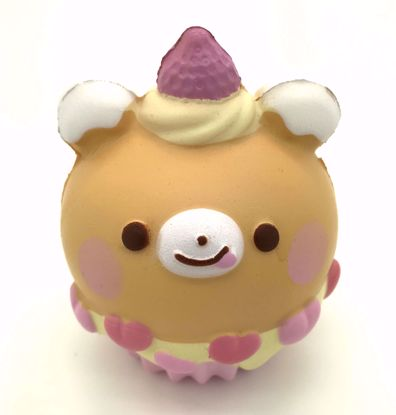 Buy Super Cute Soft and Slow Rising BIG! Animal Cupcake Squishy - Bear