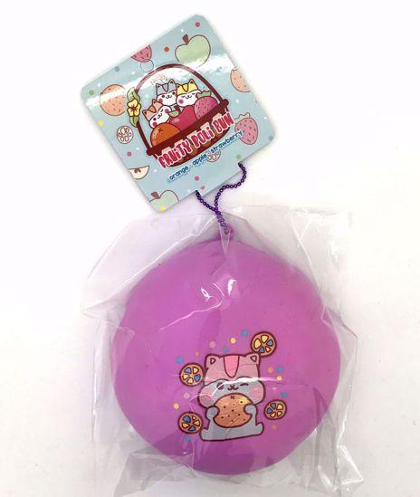 Buy Popular Super Duper Soft and Extra Slow Rising Jumbo Fruity Poli Bun Squishy - Strawberry Design Purple