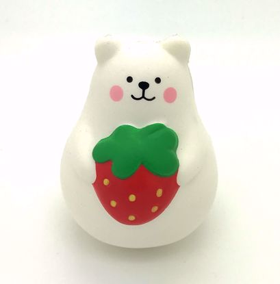 Buy iBloom Super Soft and Slow Rising Scented Mini Marshmallow Bear Squishy - Red Strawberry B