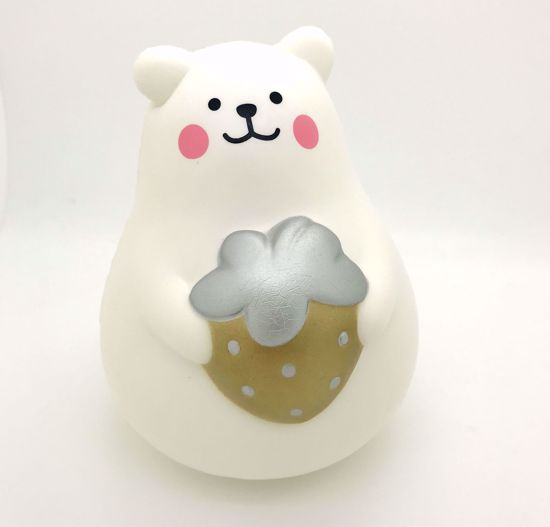 Buy iBloom Super Soft and Slow Rising Scented Large Marshmallow Bear Squishy - Gold Strawberry
