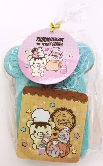 Buy Creamii Candy Super Soft and Slow Rising Mini Scented Yummiibear Toast Squishy - Blueberry Scented