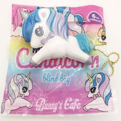 Buy Bunny's Café Super Soft and Slow Rising Scented Mini Candicorn Blind Bag Squishy - OPENED - Blue Unicorn
