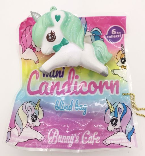 Buy Bunny's Café Super Soft and Slow Rising Scented Mini Candicorn Blind Bag Squishy - OPENED - Green Unicorn