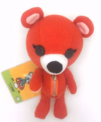 Buy Cute Red Bear Plushie with Moveable / Rotating Limbs and Head and a Secret Tummy Zip Pouch