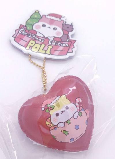 Buy Popular Christmas Edition Poli Heart Macaron Squishy - Red
