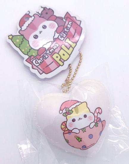 Buy Popular Christmas Edition Poli Heart Macaron Squishy - White