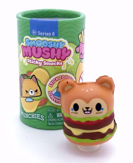 Buy RARE US / Canada Exclusive Smooshy Mushy Series 6 Sticky Snacks * OPENED * Munchies Hamburger